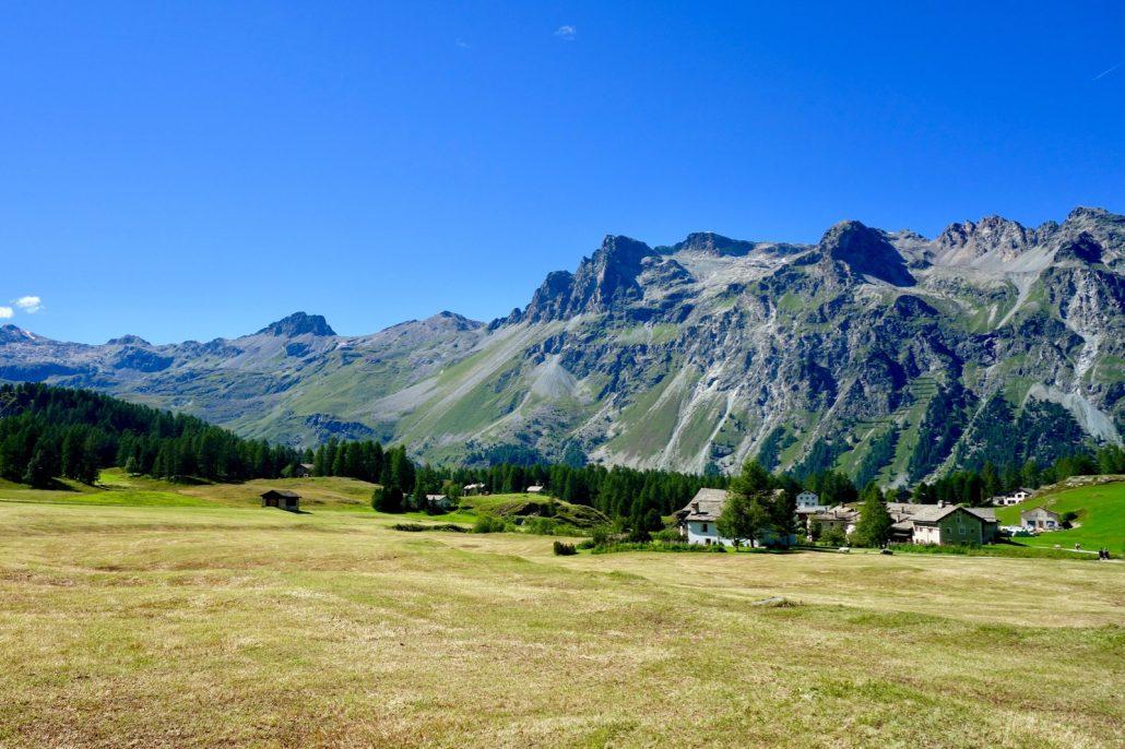 Auf dem Weg zu Alp Clavadetsch