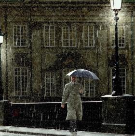 Des Nachts im Regen