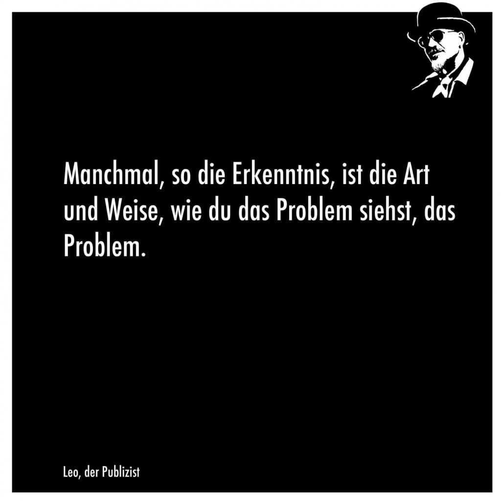 Problem sehen | Magazin Zürich | Zitate